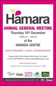 Hamara AGM 16th December