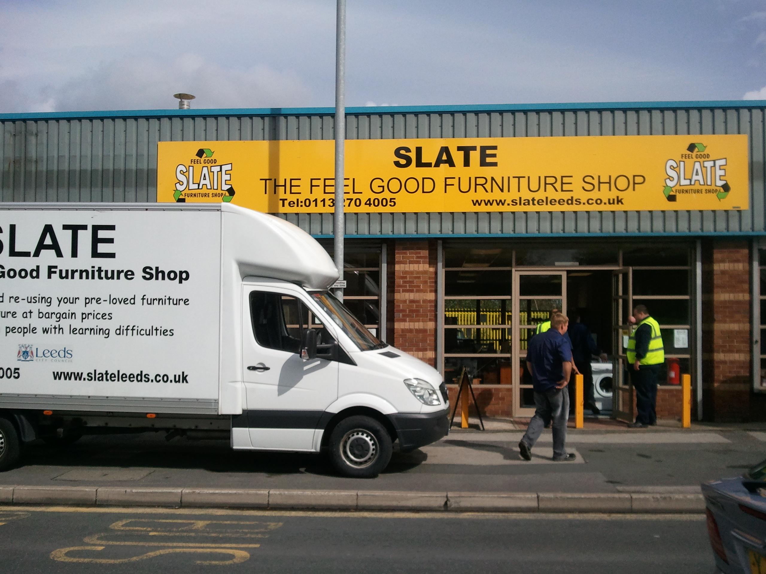 slate Van front of shop 2