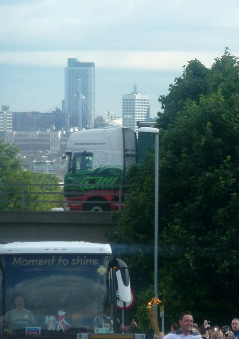 The torch makes its way throughg south Leeds this morning. Photo: Lynne Spirrett
