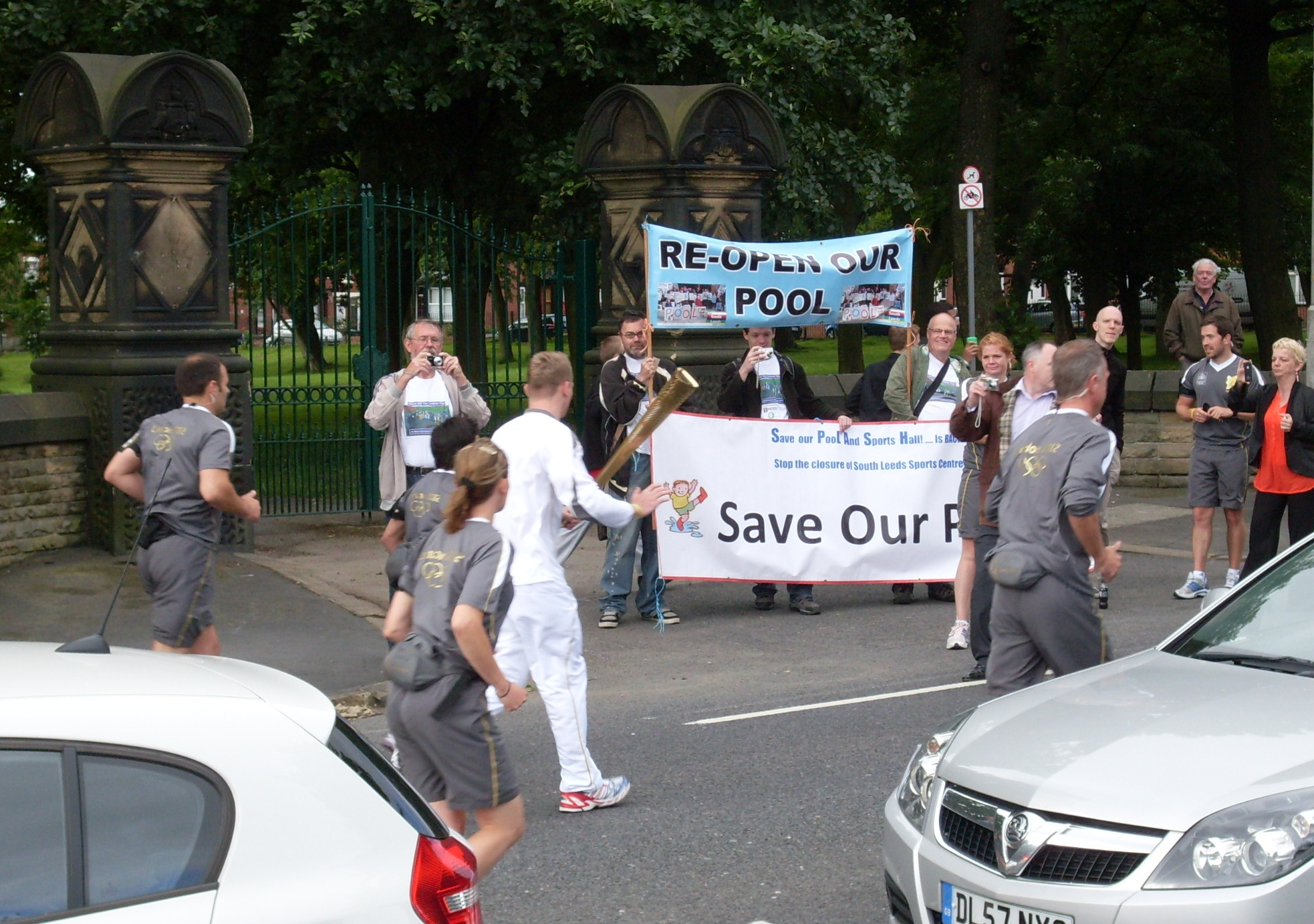 Olympic torch save our pool
