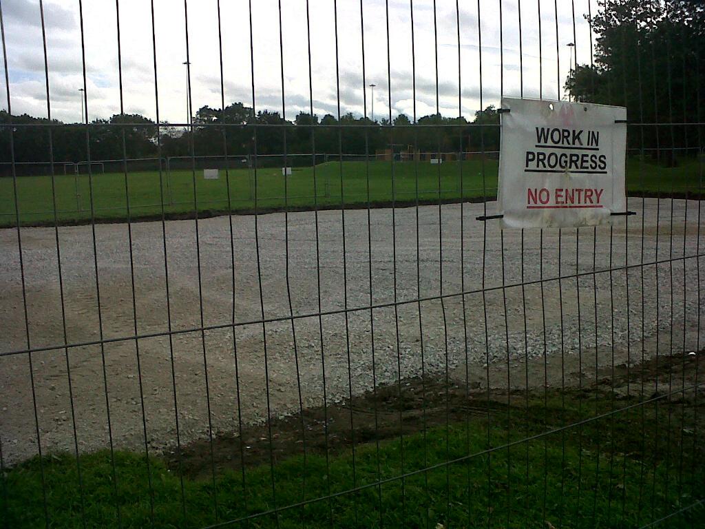 Holbeck moor skatepark work