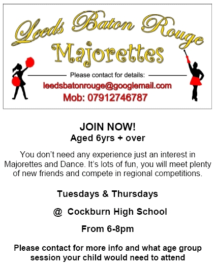 Leeds Baton Rouge Majorettes - New Members Wanted!